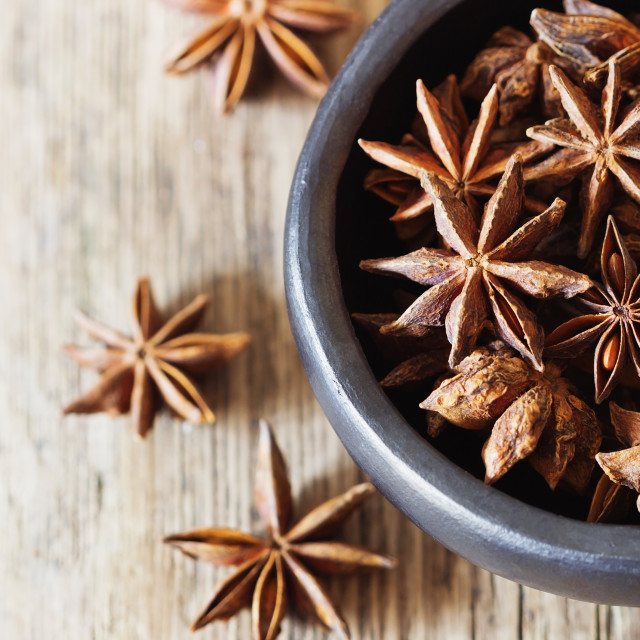"""Star anise spice fruits"" stock image"
