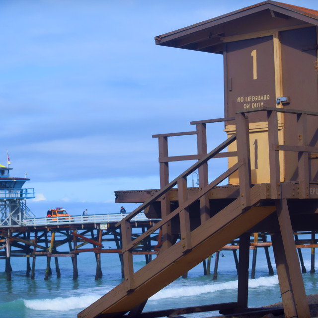 """Lifeguard Tower"" stock image"