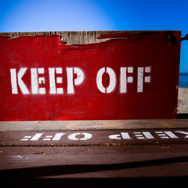 """Red Keep Off Sign"" stock image"