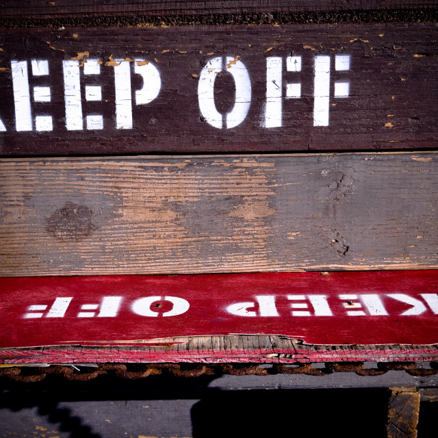 """Keep Off Sign"" stock image"