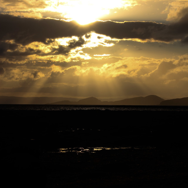 """Sunset Over Arran"" stock image"