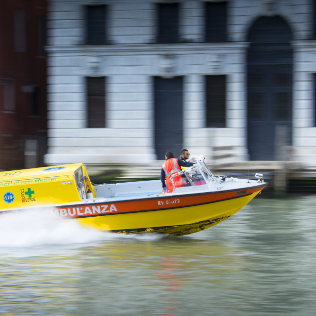 """Emergency Ambulance Venice"" stock image"