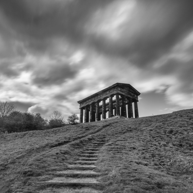 """Penshaw monument showers"" stock image"