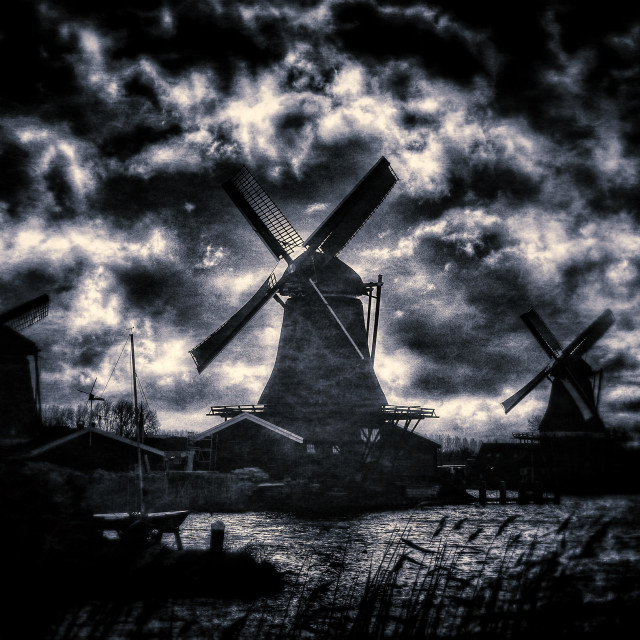 """""""The Old Windmills"""" stock image"""
