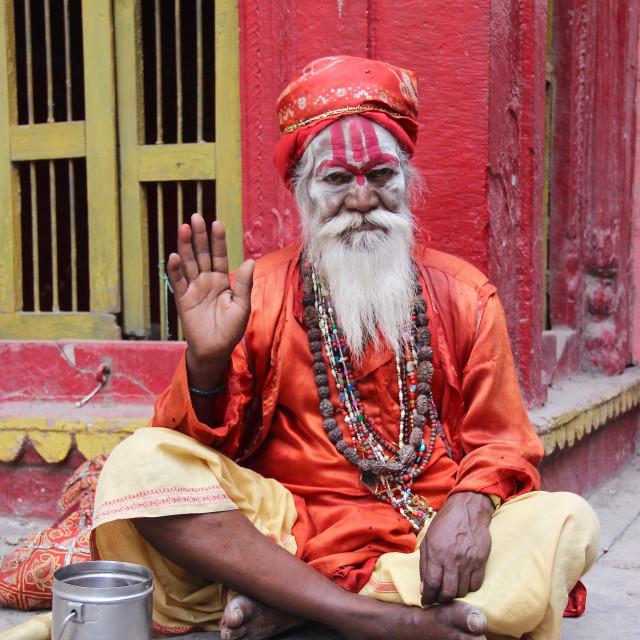 """""""Sadhu Pose"""" stock image"""