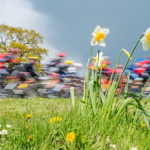 """Tour de Yorkshire Cycle Race"" stock image"
