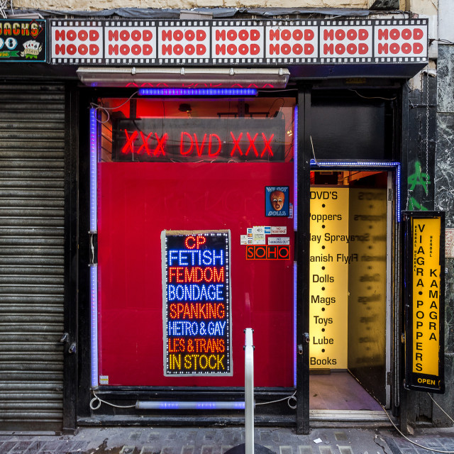 """""""Last Adult Shop in Soho?"""" stock image"""