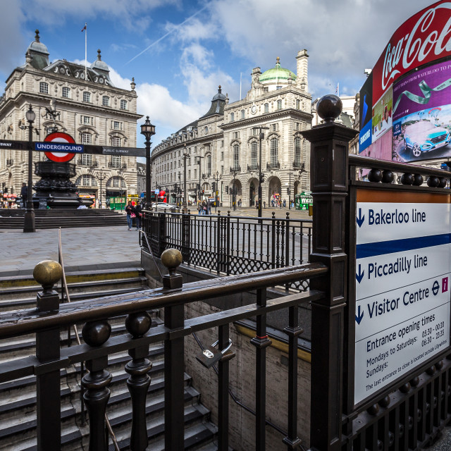 """Sunday morning Piccadilly"" stock image"