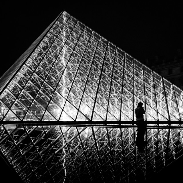 """""""After Hours at the Louvre"""" stock image"""