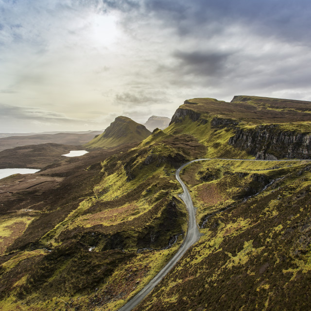 """The Quirang and Trotternish Ridge"" stock image"