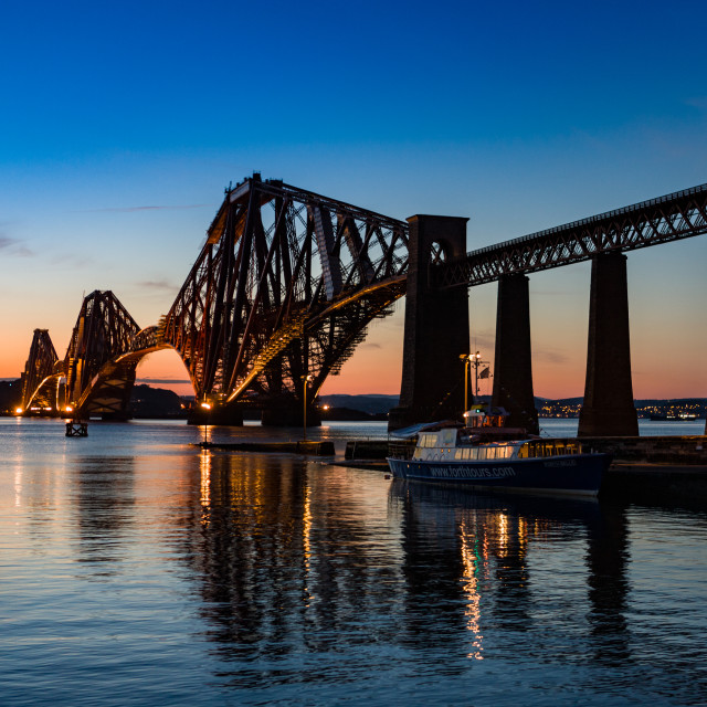 """Forth Rail Bridge evening"" stock image"