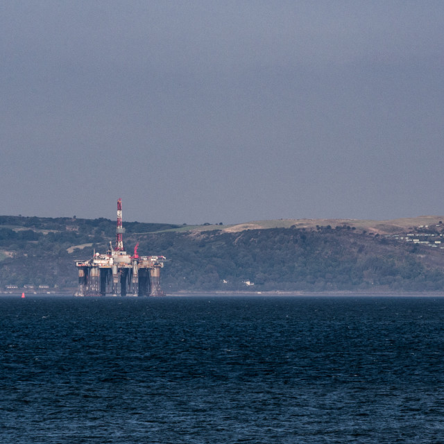 """""""Oil Rig On Firth of Forth"""" stock image"""