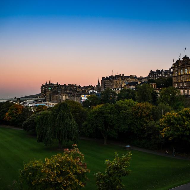 """Edinburgh Sunset"" stock image"