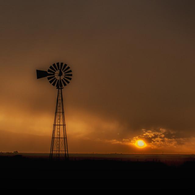 """Texas Sunset"" stock image"