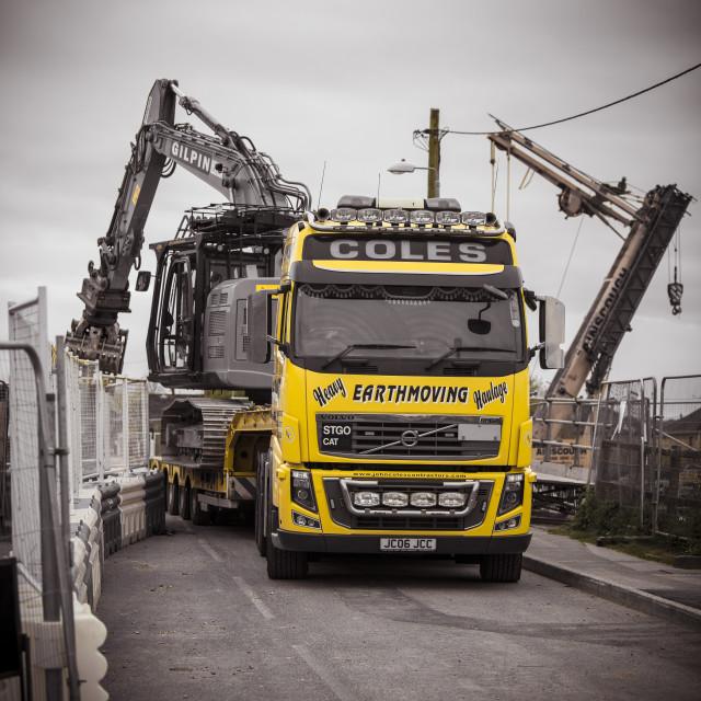"""""""Heavy Plant Lorry"""" stock image"""