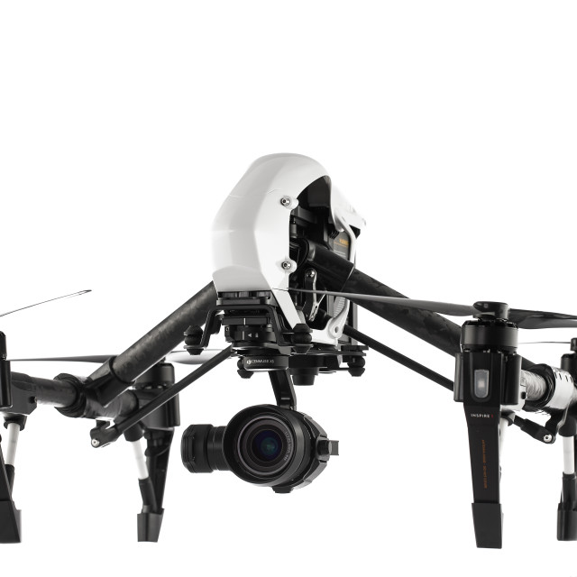 """Varna, Bulgaria - April 22 ,2016: Image of DJI Inspire 1 Pro drone UAV..."" stock image"