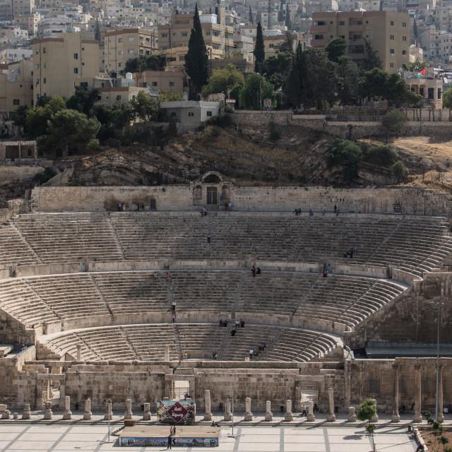 """Amphitheater Amman Jordan 4"" stock image"