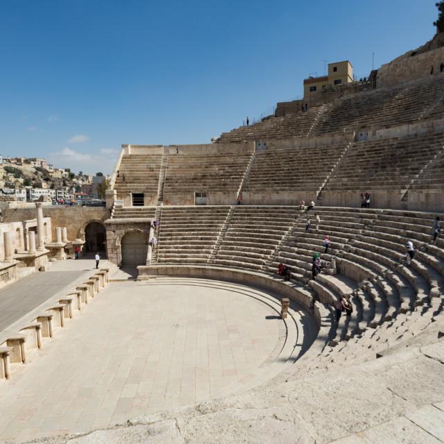 """Amphitheater Amman Jordan"" stock image"