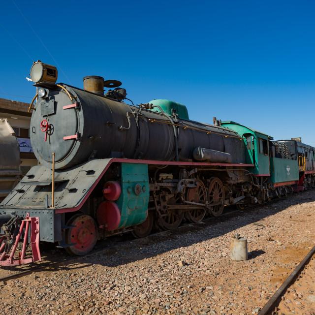 """Steam Train Jordan"" stock image"