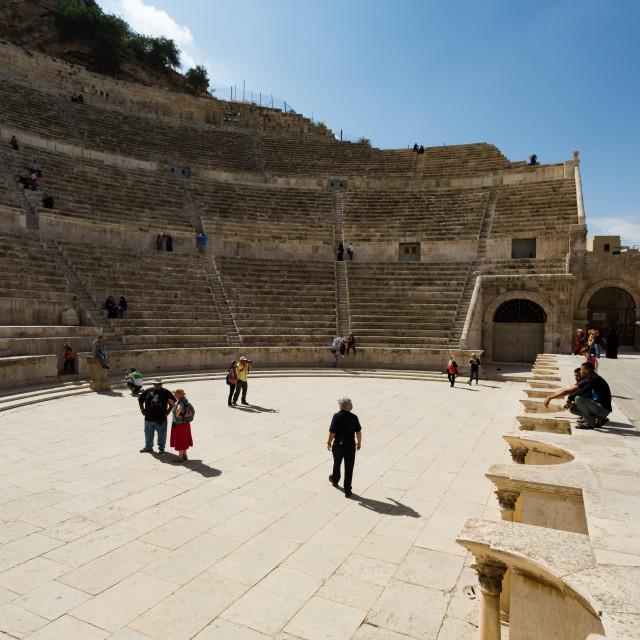 """Amphitheater Amman Jordan 3"" stock image"