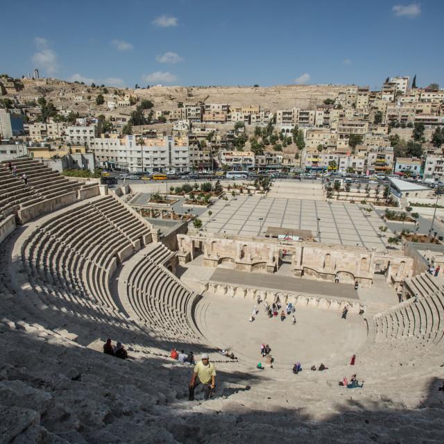 """Amphitheater Amman Jordan 2"" stock image"
