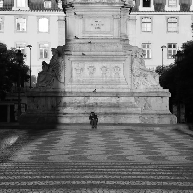 """""""Homeless in Lisbon"""" stock image"""