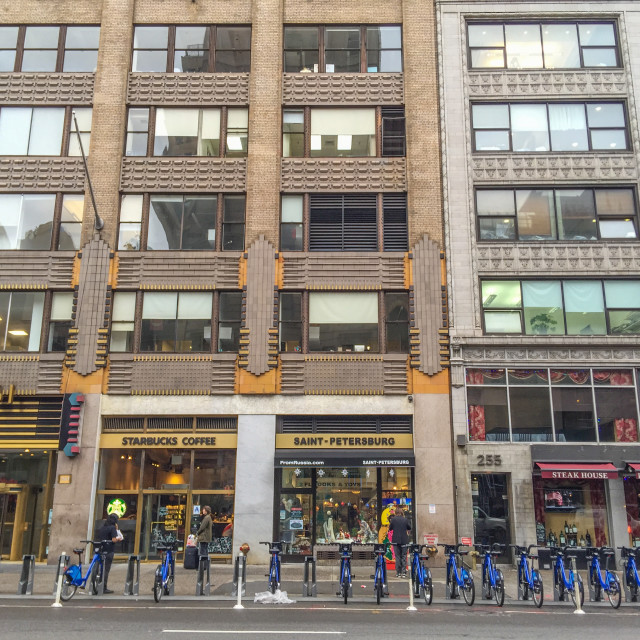 """""""Bicycle parking in New York"""" stock image"""