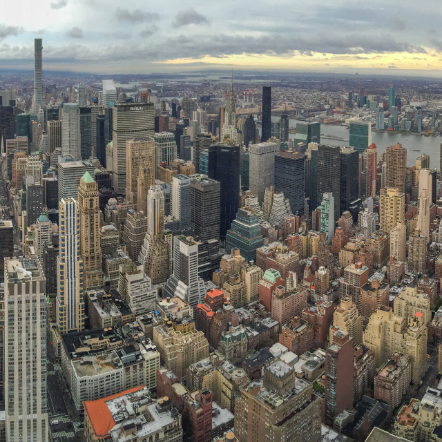 """""""Manhattan midtown view from the hight"""" stock image"""