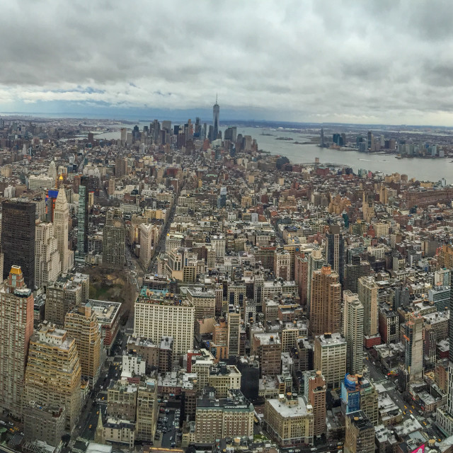 """""""Manhattan midtown from the hight"""" stock image"""
