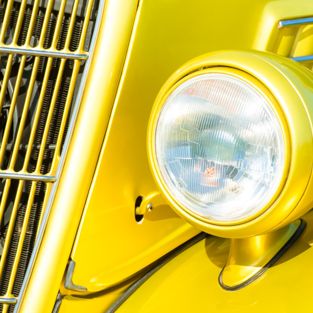 """""""car grille and headlight"""" stock image"""