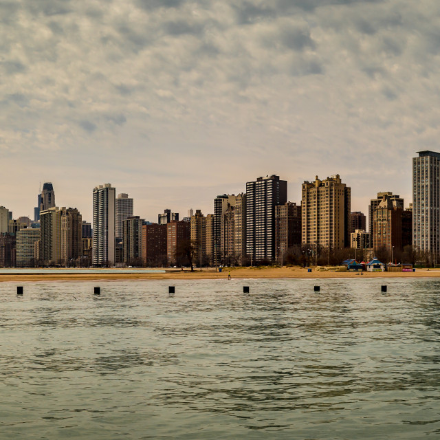 """Panorama of Chicago Skyline - daytime"" stock image"