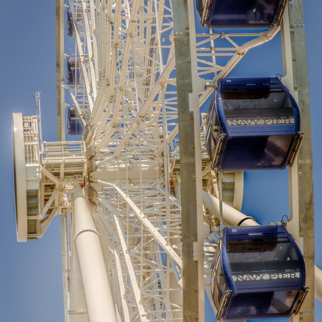 """Navy Pier Ferris Wheel"" stock image"