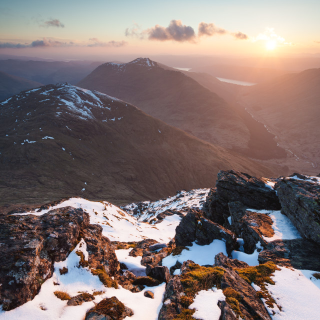 """Sunset From Ben Ime"" stock image"
