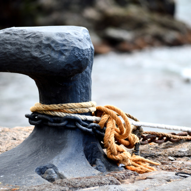 """""""Old cleat in a harbour"""" stock image"""