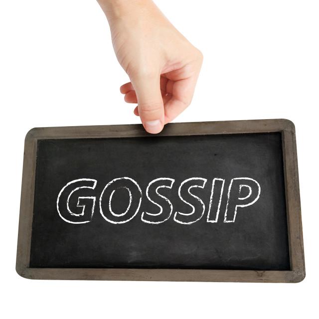 """Gossip"" stock image"