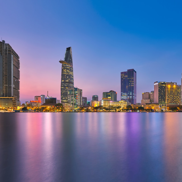"""Saigon Twilight - Ho Chi Minh city"" stock image"