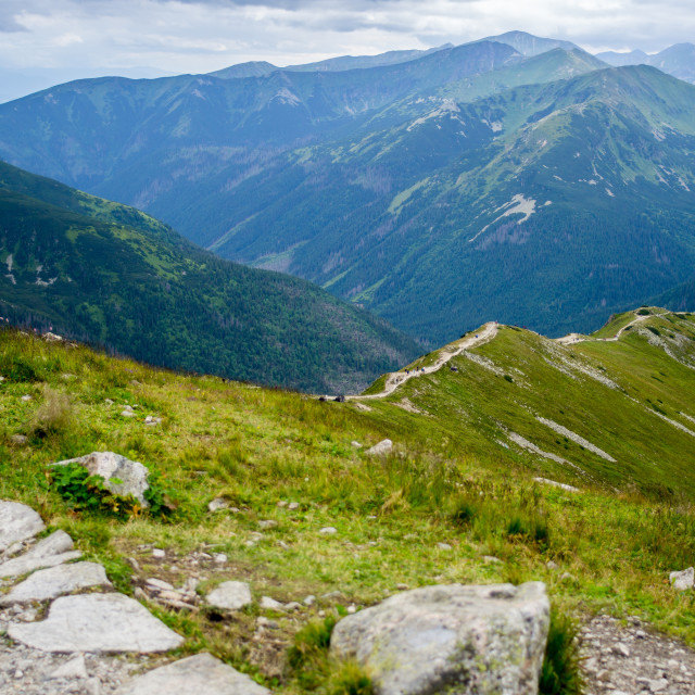 """Tatry from the Kasprowy Wierch"" stock image"