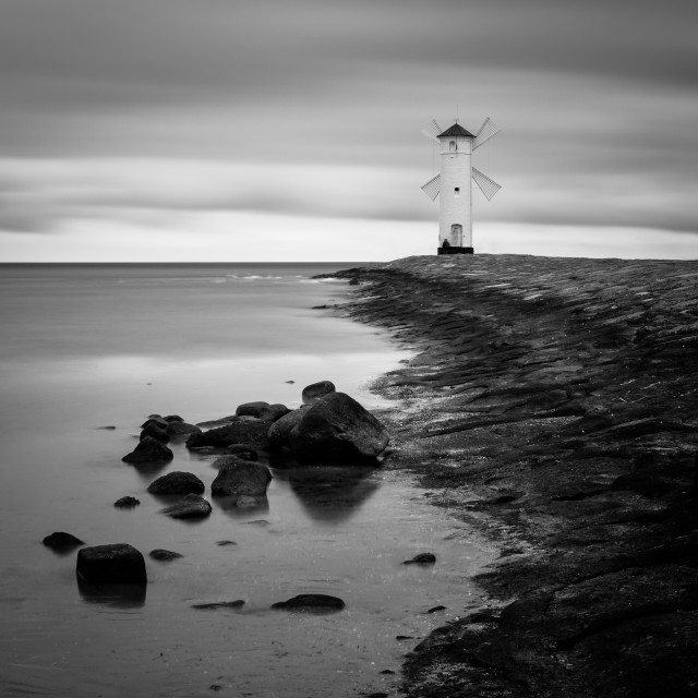 """Baltic coast - Lighthouse I"" stock image"