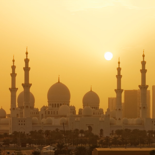 """""""Sand Storm in Abu Dhabi"""" stock image"""