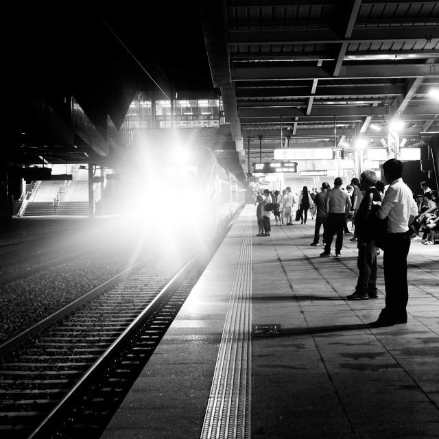 """MIdnight train"" stock image"