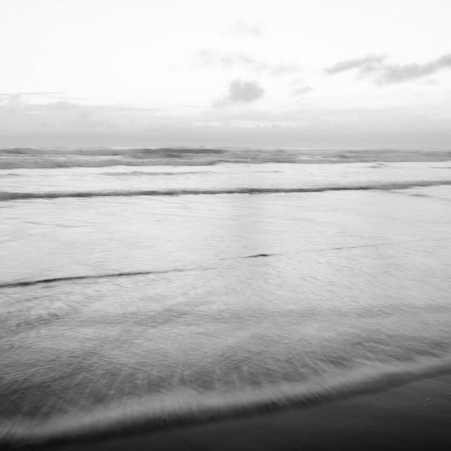 """Black and white seascape"" stock image"