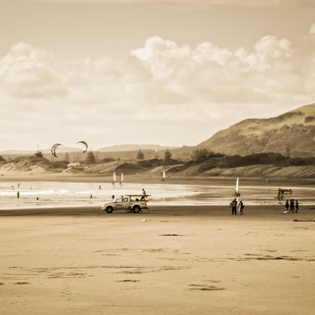 """""""Muriwai Beach"""" stock image"""