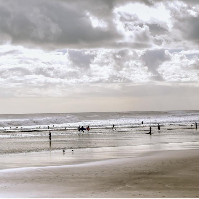 """Muriwai Beach NZ"" stock image"