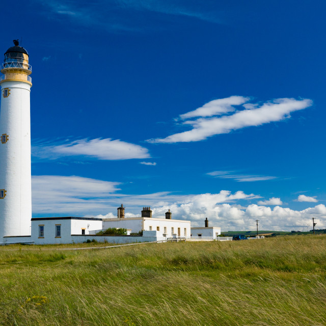 """Barns Ness Lighthouse 2"" stock image"