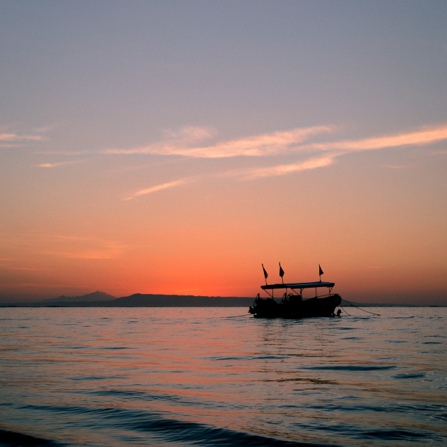 """""""Balinese sunrise 2"""" stock image"""
