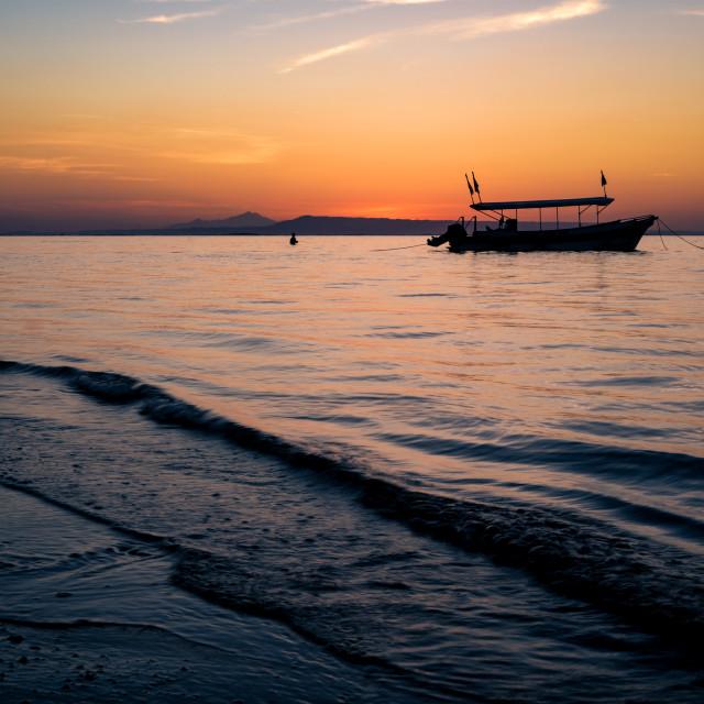 """""""Balinese sunrise 1"""" stock image"""