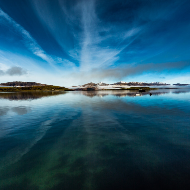 """Loch Linnhe from Port Appin"" stock image"