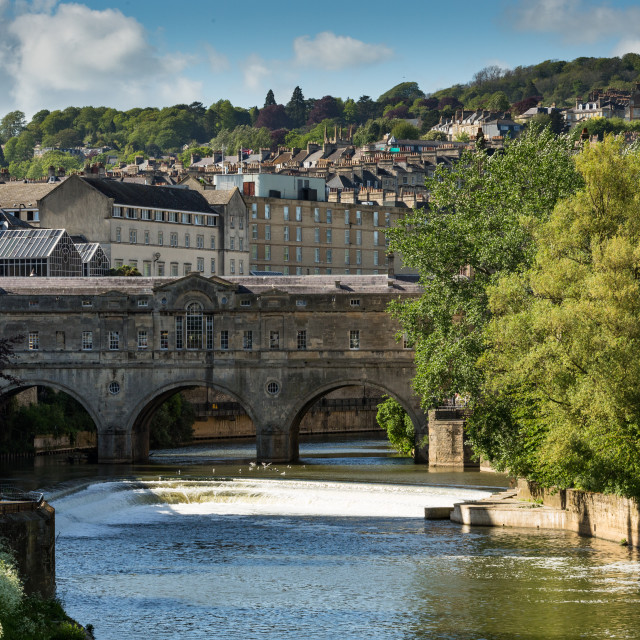 """Pulteney Bridge Bath 2"" stock image"