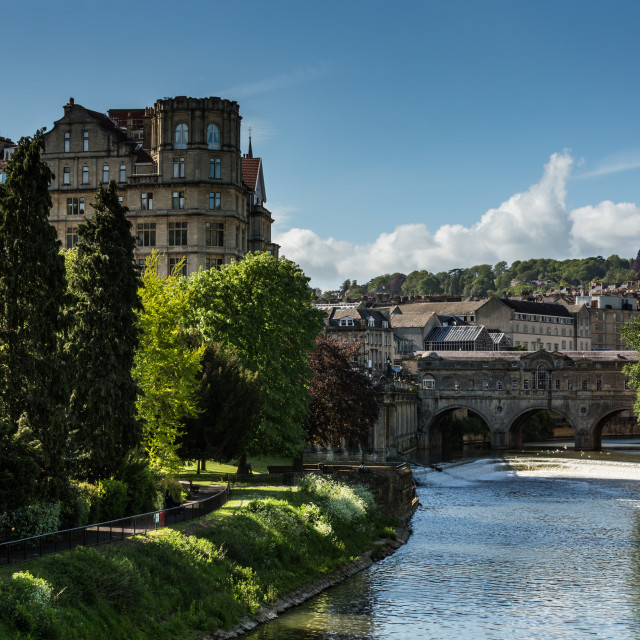 """Pulteney Bridge Bath"" stock image"