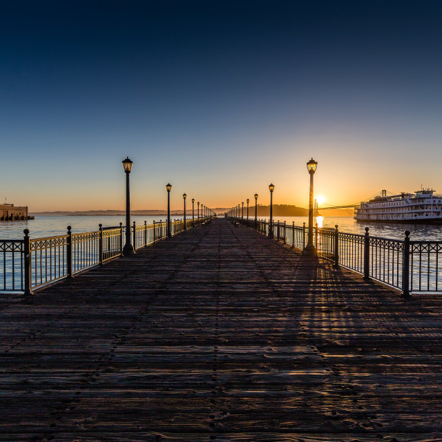 """Pier in San Francisco"" stock image"